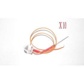 Led 10mm Orange  - Par sachet de 10
