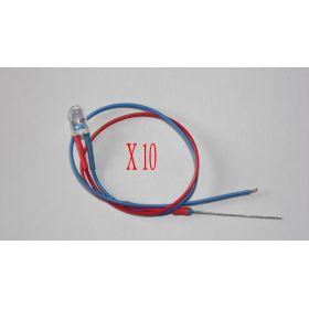 Led Clignotante 5mm Rouge Et Bleue - Par sachet de 10