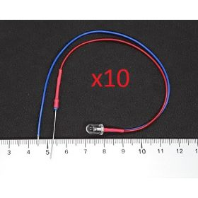 Led Clignotante 5mm Rouge et Bleu- Par sachet de 10