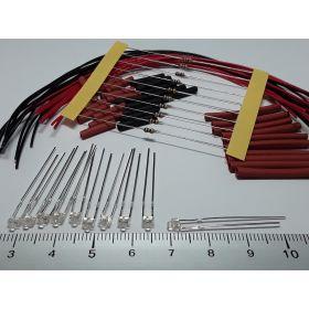 Led 1,8mm rose à câbler - par sachet de 10