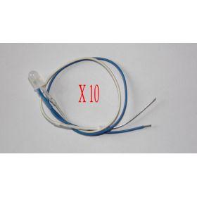 Led Clignotante 5mm Blanche Et Bleue - Par sachet de 10