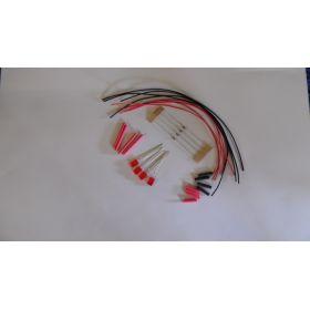 Led Rectangulaire 5x2mm Rouge Diffusant à Câbler  - Par sachet de 4