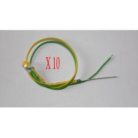 Led Clignotante 5mm Jaune Et Vert - Par sachet de10