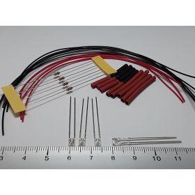 Led rectangulaire 3x2mm blanc à câbler - par sachet de 4