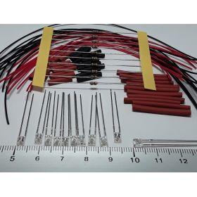 Led rectangulaire 3x2mm vert à câbler - par sachet de 10