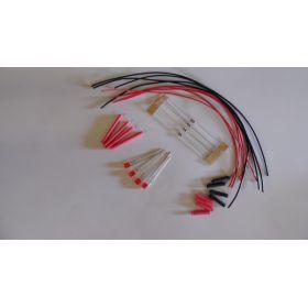 Led Rectangulaire 3x2mm Rouge Diffusant à Câbler  - Par sachet de 4