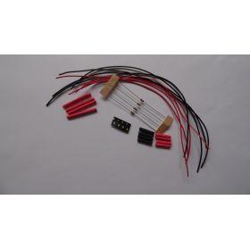 Micro Led Clignotante Type A Bleu/Rouge à Câbler - Par sachet de 4