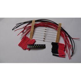 Micro Led Clignotante Type A Bleu/Rouge à Câbler - Par sachet de 10