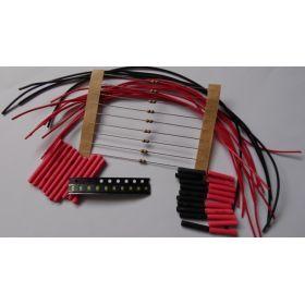 Micro Led Clignotante Type A Disco Lente à Câbler - Par sachet de 10