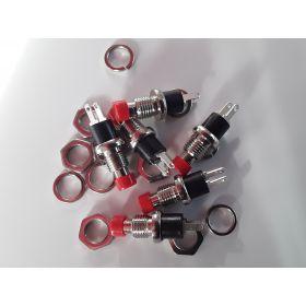 Bouton Poussoir rouge - Par sachet de 6