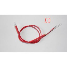 Led 3mm Rouge  - Par sachet de 10