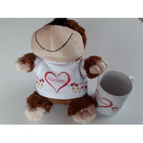 Peluche Chien avec Mug
