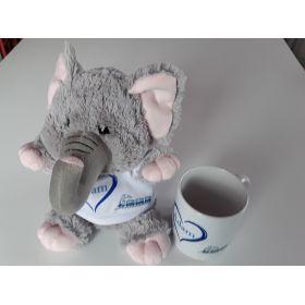 Peluche Eléphant plus Mug