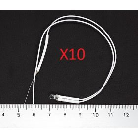 Led Clignotante 3mm Blanc  - Par sachet de 10