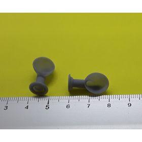 Manche à air grise 9x20mm