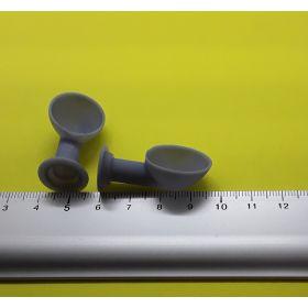 Manche à air  grise 16 x 35 mm lot de 2
