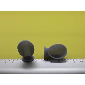 Manche à air basse grise 17 x 30 mm