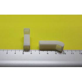 Prise d'air rectangulaire blanche 7 x 30 mm lot de 2