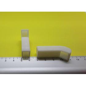 Prise d'air rectangulaire blanche 10 x 40 mm lot de 2