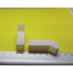 Prise d'air rectangulaire blanche 13 x 50 mm lot de 2