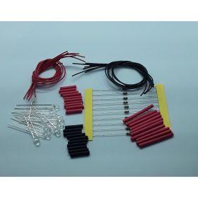 Leds non câblées par 10 effet bougie rouge