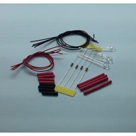 Leds  3mm non câblées par 4 effet bougie rouge