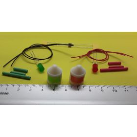 Kit fanal feux de position blanc 14x20mm et leds à câbler