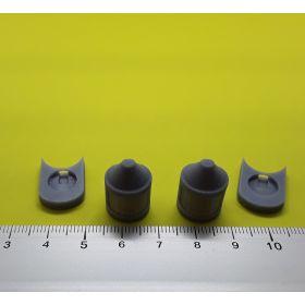 Fanal feux de mât avec support en gris 14x20mm lot de 2