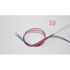 Led Clignotante 3mm Rouge Et Bleue - Par sachet de 10