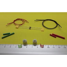 Kit fanal feux de position blanc  8 x 12 mm et leds à câbler