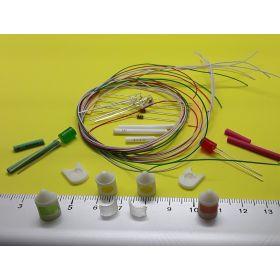 Kit feux de position et mât blanc  8 x 12 mm et leds à câbler