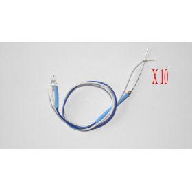 Led 3mm Couleur Pastel Bleu Glace - Par sachet de 10