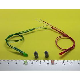 Kit feux de position gris 5 x 12 mm et leds câblées.