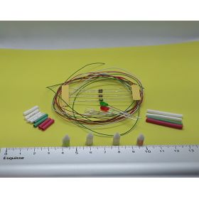 Kit feux de position et feux de mât blanc 5 x 12 mm avec leds à câbler