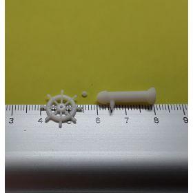 Roue de barre 15mm blanche