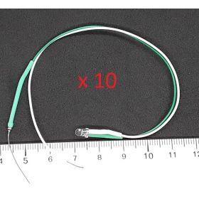 Led 3mm Couleur Pastel Vert Menthe - Par sachet de 10
