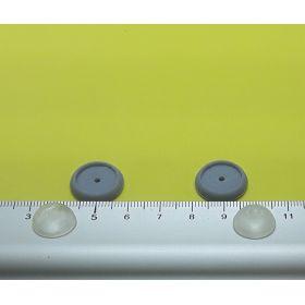 Support gris 26 mm et globe 20 mm pour éclairage cabine