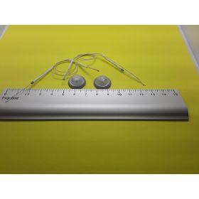 Kit 2 support et globe gris éclairage cabine avec leds câblées blanc froid