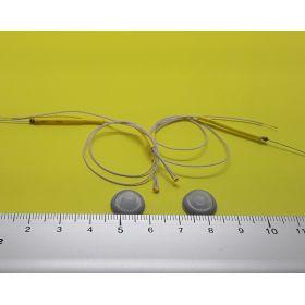 Kit globe 6mm gris et micro leds câblées blanc chaud
