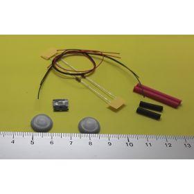 Kit globe 6mm gris et micro leds blanc froid à câbler