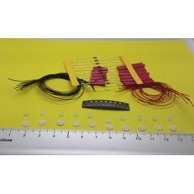 Support et globe 5 x 4 mm par 10 éclairage cabine avec kit 10 leds à câbler blanc froid