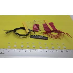 kit x10 support et globe 5 x 4 mm  éclairage cabine avec 10 leds à câbler blanc chaud