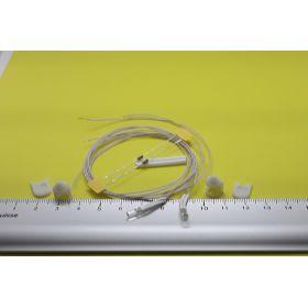 Kit feux de mât blanc 8 x 12 mm et leds câblées