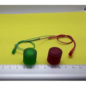 Kit fanal feux de navigation 20x20mm et leds cylindrique câblées