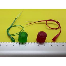Kit fanal feux de navigation 15x15mm et leds cylindriques câblées