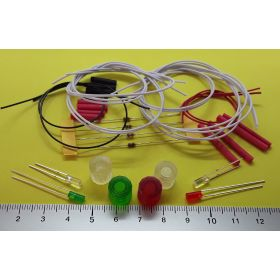 kit fanal feux de navigation 10x10mm et 4 leds cylindrique à câbler