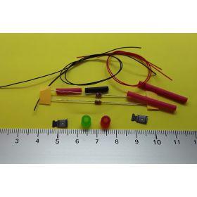 kit fanal feux de navigation 5x5mm et micro leds à câbler