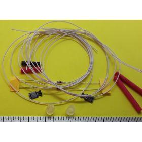Fanal feux de mât 5 x 5mm avec kit 2 leds non câblées