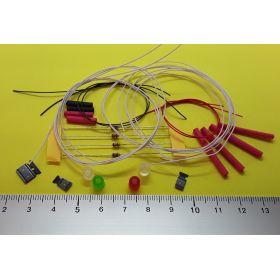 Fanal feux de position et feux de mât 5 x 5mm avec kit 4 leds à câbler