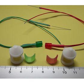 Kit fanal feux de position blanc 8x12mm et leds câblées